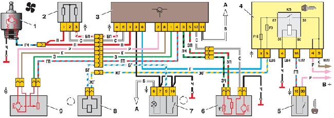 Схема отопителя